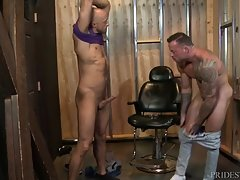 Sean brings Jessie to his playroom and the two waste no time getting into some heavy play with each other. Sean immediately goes for Jessie`s ass and starts rimming him. Jessie then sucks Sean deep to the hilt and then Sean goes back for seconds on Jessie