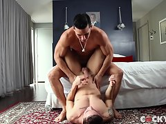 After some more throat-fucking they get into a 69 position so they can both suck each other off at the same time before Angel gets on top of Topher and starts riding him.