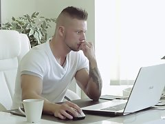 Watch Angelo Godshack at home as he gets out of bed and streches out for his morning training. Don`t miss this never-before-seen intimate look at one of the most popular male pornstars.