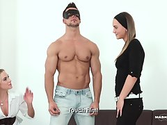 Vinna invited her friend Naomi over she could tell her about the Hypno Mask she found. Last time, hot jock Ennio obeyed all her orders, so she plans to invite him again and let her friend join the fun. All they need to do is make him wear the mask, then h