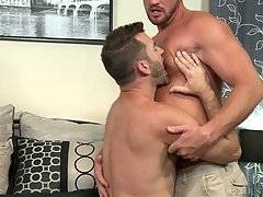 Jake takes it easy on Josh`s glorious blonde golden ass as he passionately fucks him deep and soft while kissing him.